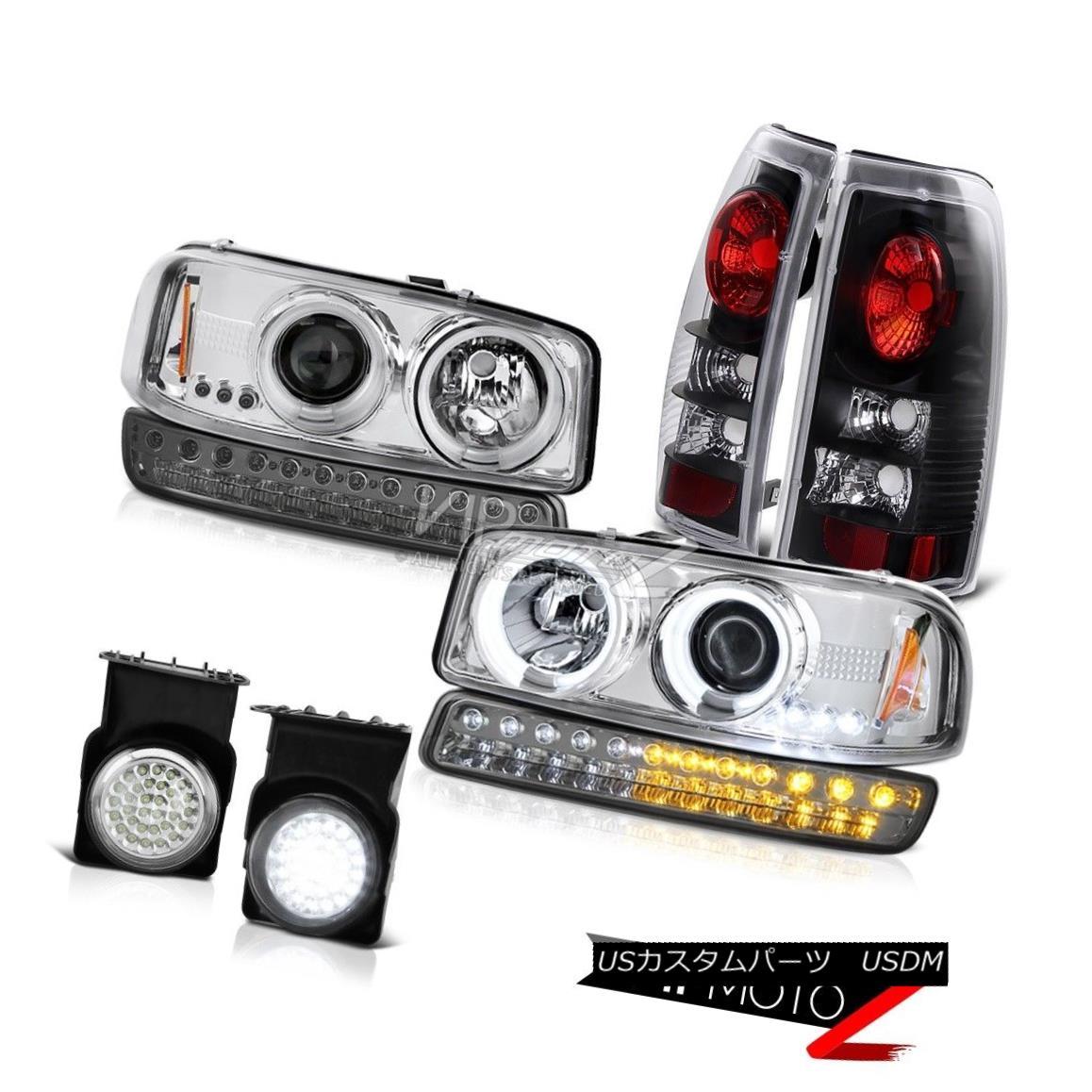 ヘッドライト 03 04 05 06 Sierra SLE Fog Lights Black Taillights Parking Lamp CCFL Headlamps 03 04 05 06シエラSLEフォグライトブラックテールライトパーキングランプCCFLヘッドランプ