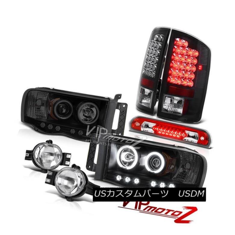 ヘッドライト 02-05 Dodge Ram World Brightest CCFL Headlights LED Black Taillamps Bumper Fog 02-05ダッジ・ラム・ワールド最も明るいCCFLヘッドライトLEDブラック・テールランプバンパーフォグ