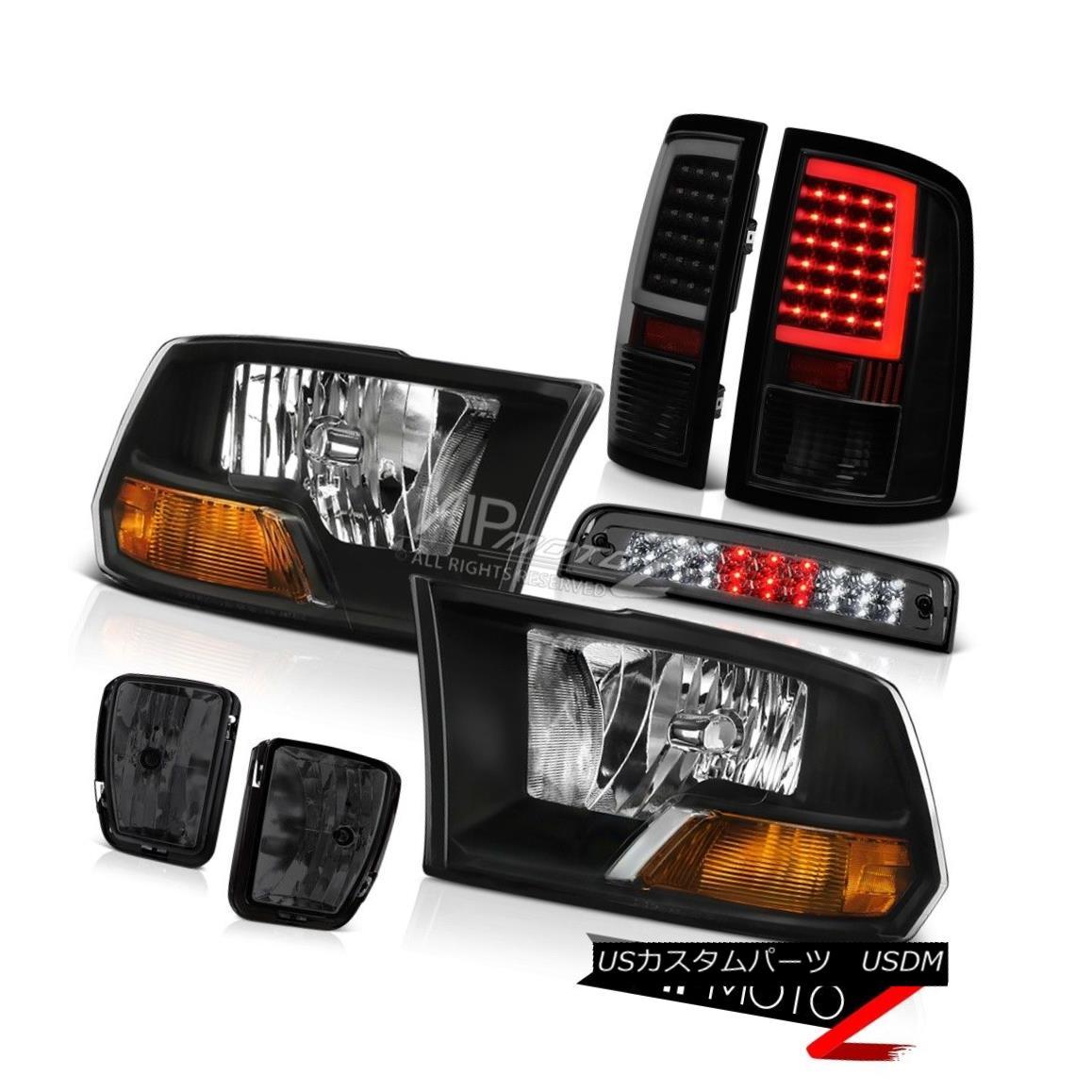 ヘッドライト 2013-2017 Dodge RAM 1500 Tail Lamp Fog Brake Light Factory Style Headlight PAIR 2013-2017 Dodge RAM 1500テールランプフォグブレーキライト工場スタイルヘッドライトペア