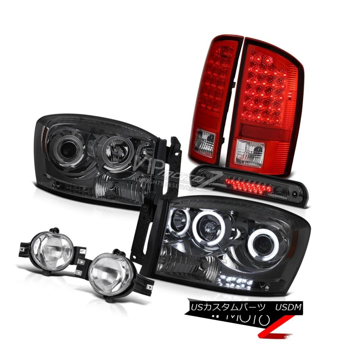 ヘッドライト 2007-2008 Ram Hemi C.C.F.L Smoke Headlights LED Tail Lights Chrome Fog High 3rd 2007-2008 Ram Hemi C.C.F.LスモークヘッドライトLEDテールライトクロムフォグハイ3
