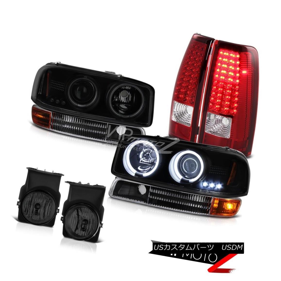 ヘッドライト CCFL Halo Headlamp Headlight Signal Red LED TailLight Foglamp 2003 GMC Sierra WT CCFL Haloヘッドランプヘッドライト信号レッドLED TailLight Foglamp 2003 GMC Sierra WT