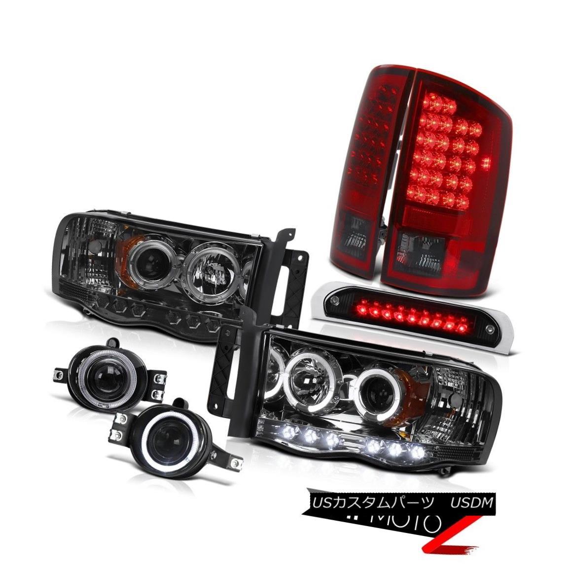 ヘッドライト Halo LED Headlamps SMD Tail Lights Chrome Fog Black Third Brake 2002-2005 Ram V6 Halo LEDヘッドランプSMDテールライトクロムフォグブラックThird Brake 2002-2005 Ram V6