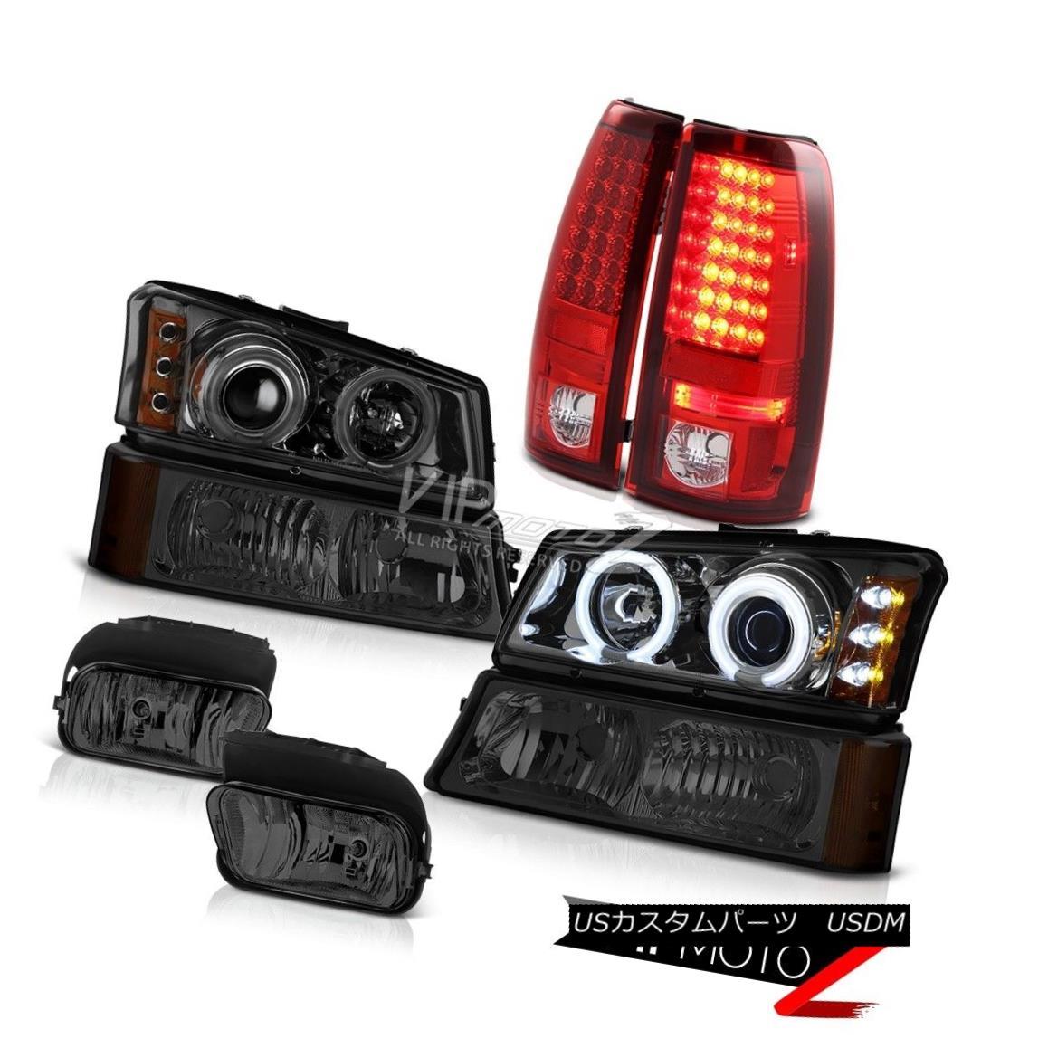 ヘッドライト Daytime CCFL Halo Headlight Bumper LED Bulb Tail Lights Foglight 03-06 Silverado 昼間CCFL HaloヘッドライトバンパーLED電球テールライトFoglight 03-06 Silverado