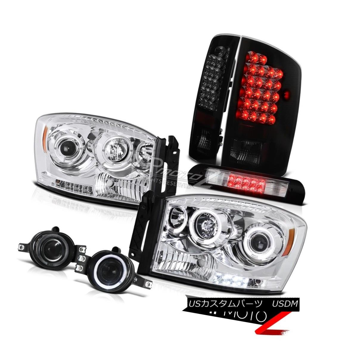ヘッドライト 2007-2008 Ram ST Halo LED Headlights Philip SuperFlux Taillights Fog High Brake 2007-2008 Ram ST Halo LEDヘッドライトPhilip SuperFlux曇り高ブレーキ