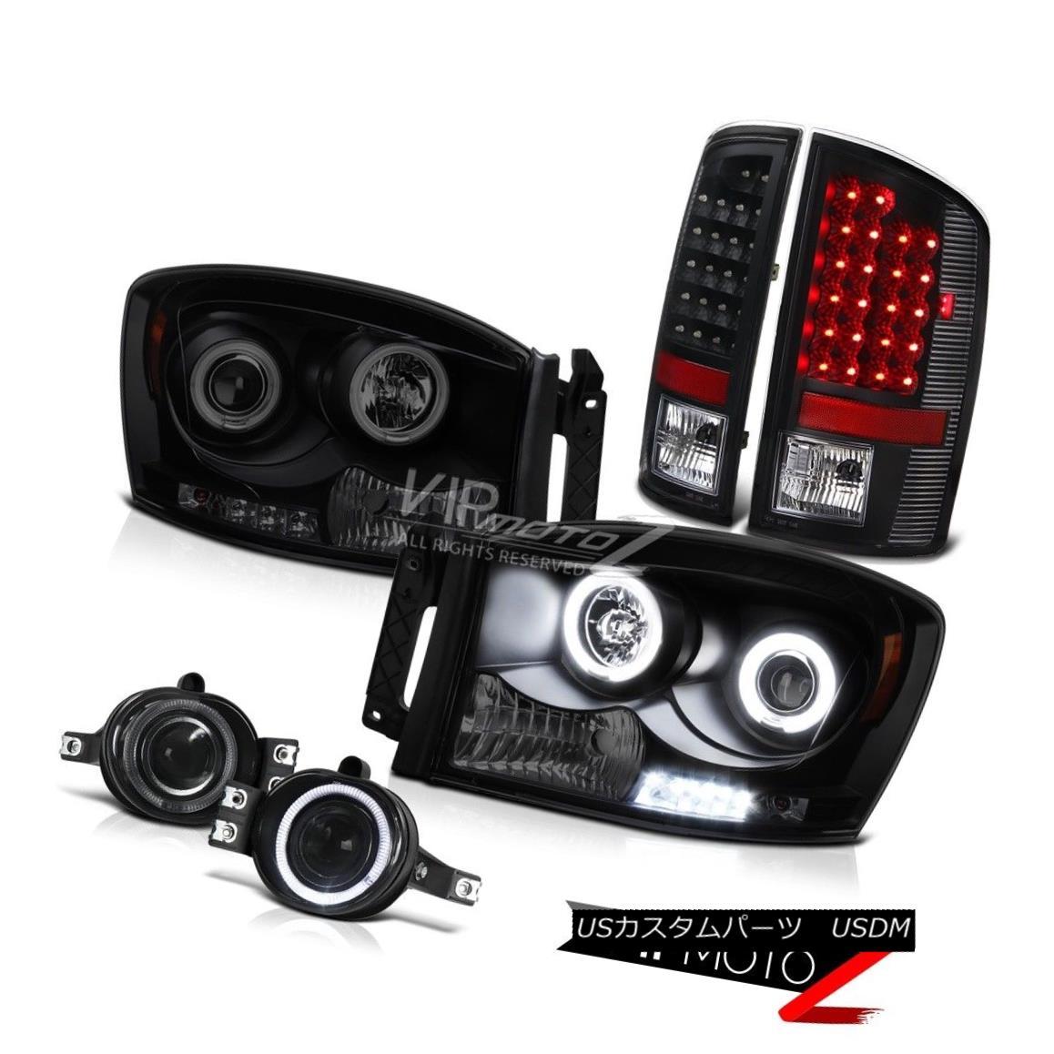 ヘッドライト 2006 Dodge Ram 5.9L Halo Rim CCFL Angel Eye Headlight Headlamp LED DRL Foglights 2006 Dodge Ram 5.9L Halo Rim CCFLエンジェルアイヘッドライトヘッドランプLED DRL Foglights