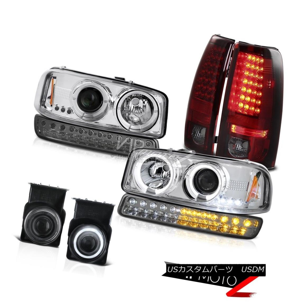 ヘッドライト 2003-2006 Sierra 5.3L Foglights Taillamps Bumper Light Crystal Clear Headlights 2003-2006シエラ5.3Lフォグライトタイヤランプバンパーライトクリスタルクリアヘッドライト