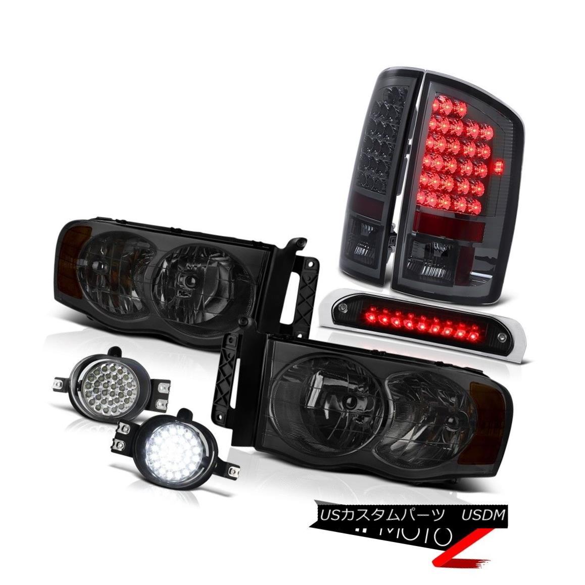 ヘッドライト 2002-2005 Ram SLT Headlights LEFT RIGHT LED Tail Lights Wiring+LED Fog High 3rd 2002-2005 Ram SLTヘッドライトLEFT RIGHT LEDテールライト配線+ LEDフォグHigh 3rd