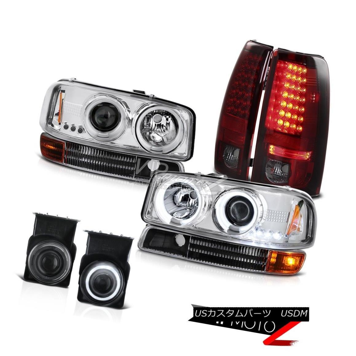 ヘッドライト 2003 Sierra DuraMax 6.6L CCFL Halo Headlight Bumper Tail Light LED Projector Fog 2003 Sierra DuraMax 6.6L CCFL HaloヘッドライトバンパーテールライトLEDプロジェクターフォグ