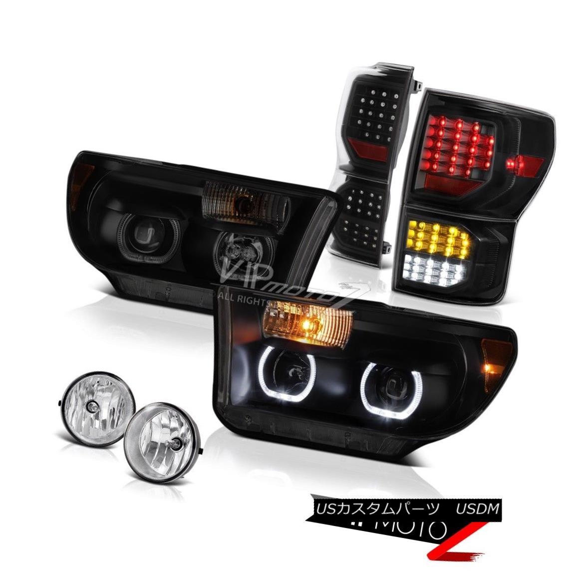 ヘッドライト 2007-2013 Toyota Tundra Limited Inky Black Tail Brake Lamps Headlights Foglights 2007-2013 Toyota Tundra Limitedインキーブラックテールブレーキランプヘッドライトフォグライト