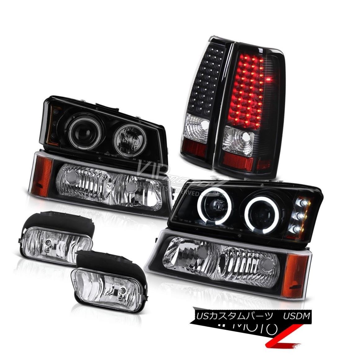 ヘッドライト 2003-2006 Silverado 4.3L V6 Headlights CCFL Halo LED Tail Lights Bumper Foglight 2003-2006 Silverado 4.3L V6ヘッドライトCCFL Halo LEDテールライトバンパーフォグライト