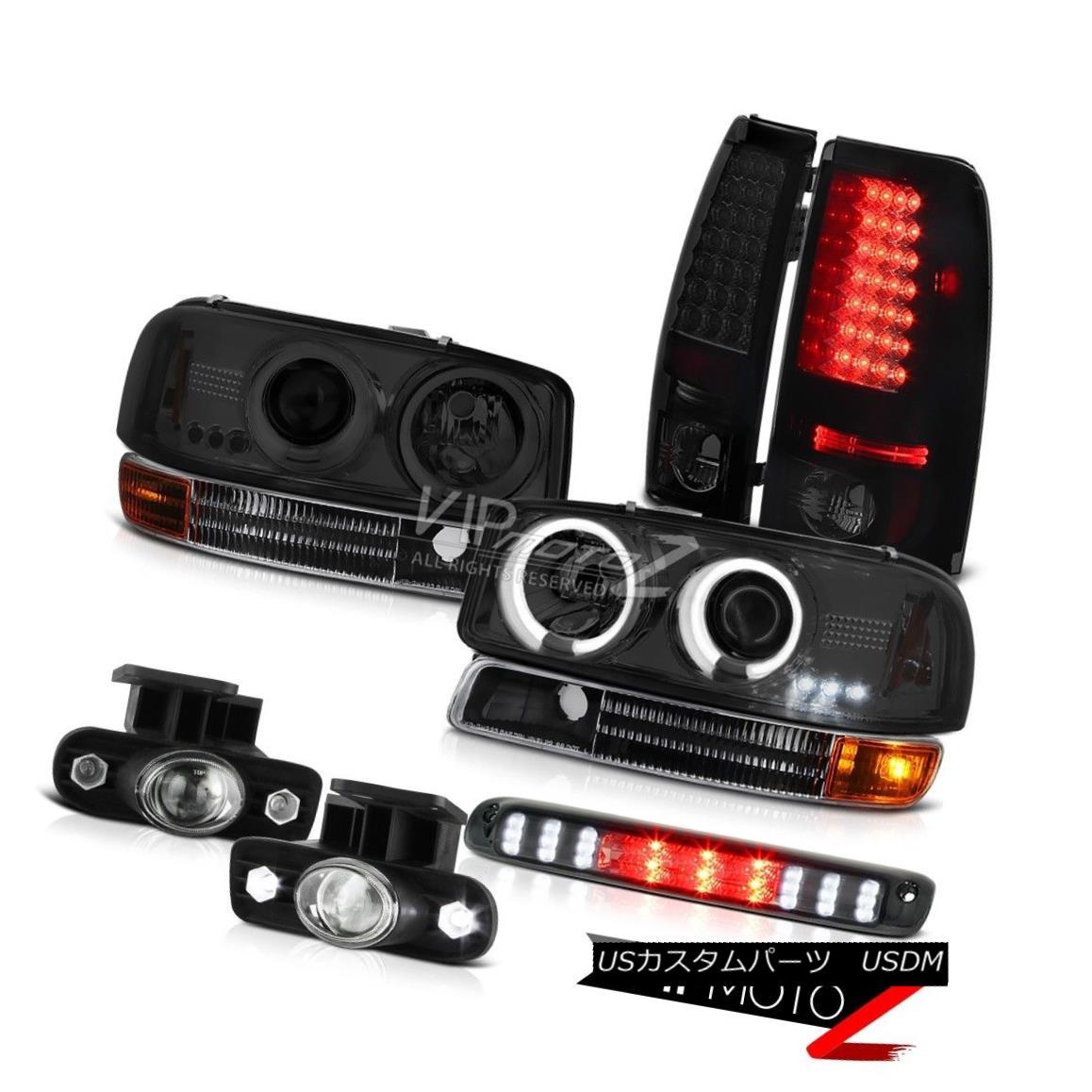 ヘッドライト 1999-2002 Sierra V6 Daytime Running CCFL Headlight LED Tail Lights Projector Fog 1999-2002シエラV6デイタイムランニングCCFLヘッドライトLEDテールライトプロジェクターフォグ