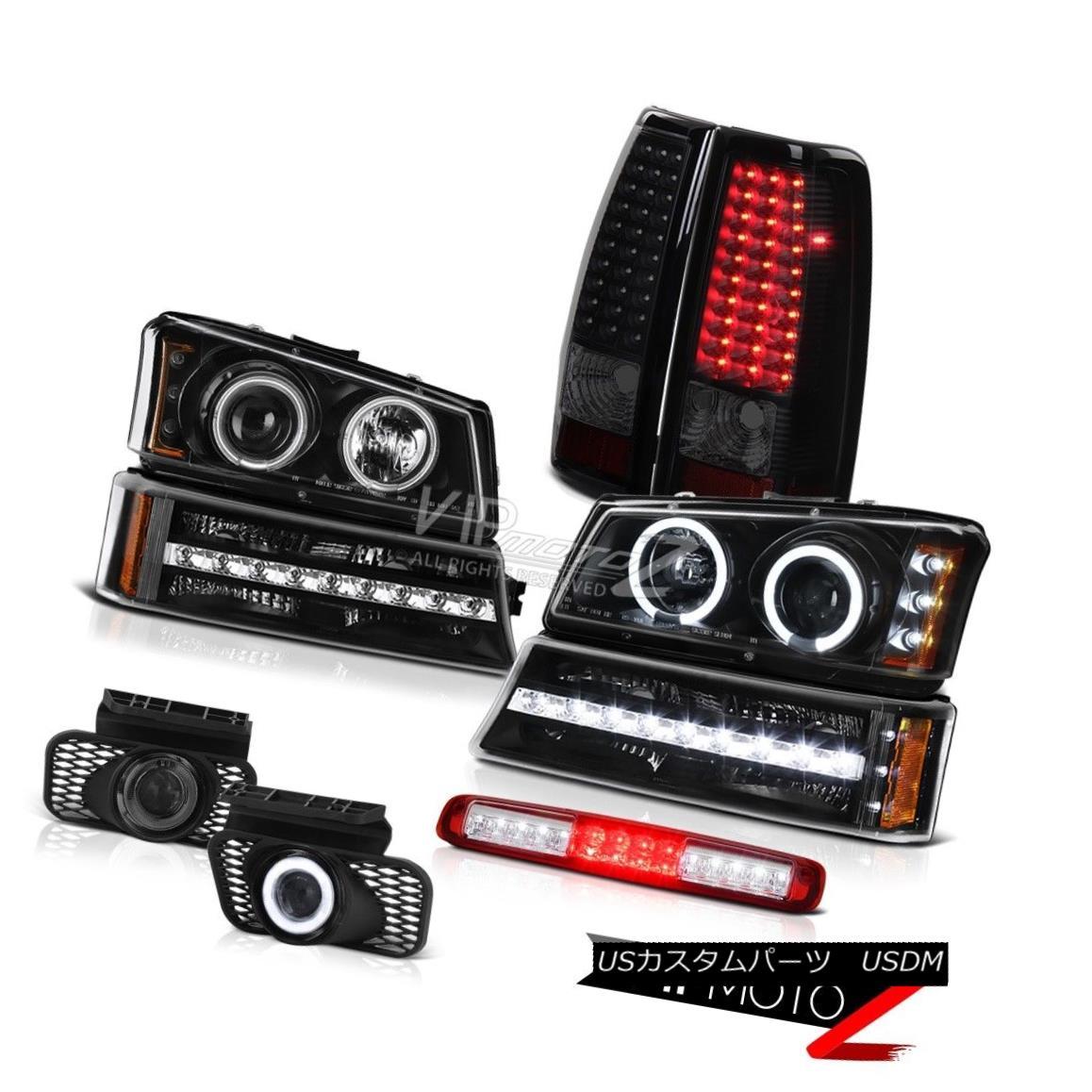 ヘッドライト 03-06 Silverado Red Third Brake Light Foglights Signal Taillamps Headlamps LED 03-06シルバラードレッド第3ブレーキライトフォグライト信号ターンランプヘッドランプLED