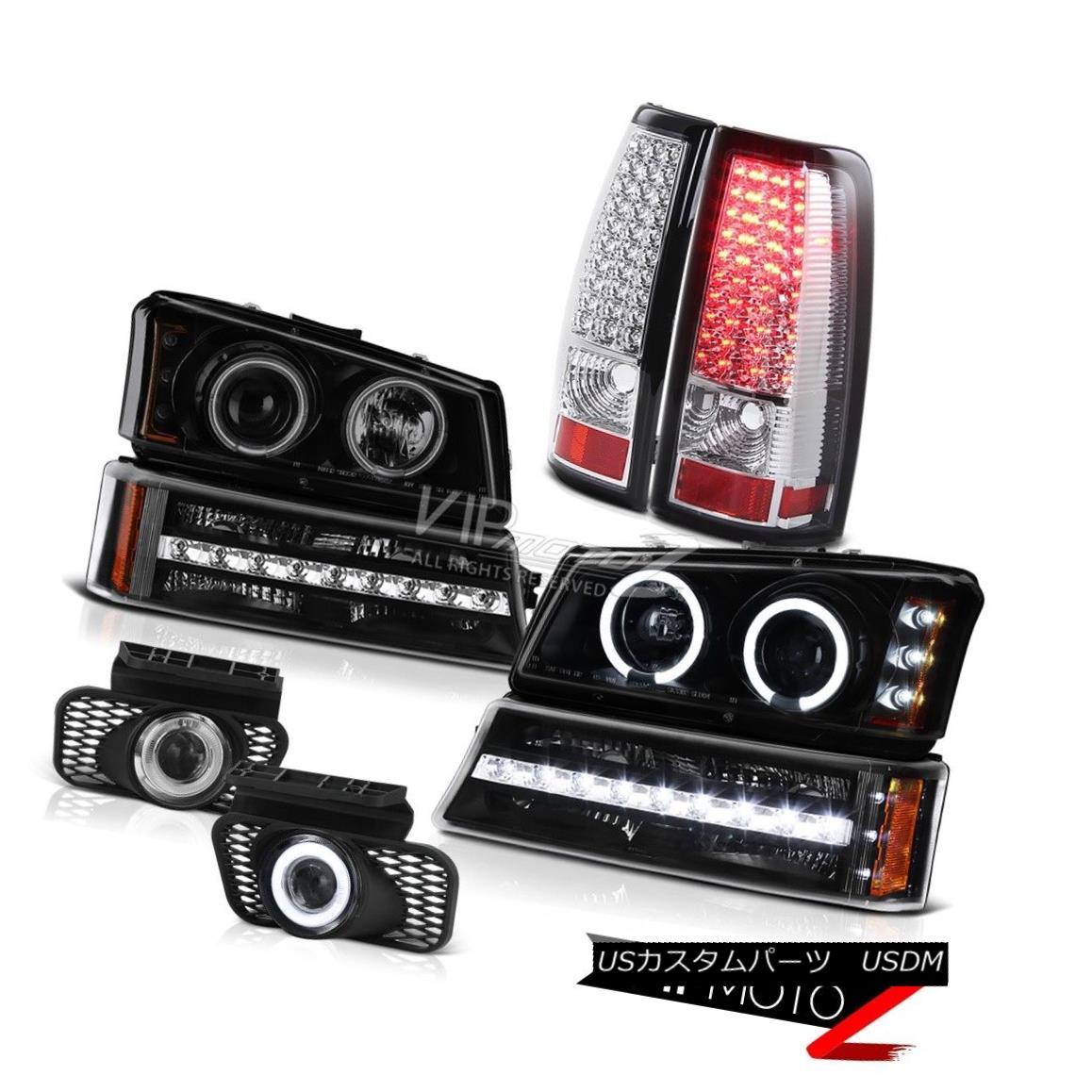 ヘッドライト 03-06 Chevy Silverado 2500HD Fog lights taillamps black signal light headlights 03-06 Chevy Silverado 2500HDフォグライトテールランプブラックシグナルライトヘッドライト