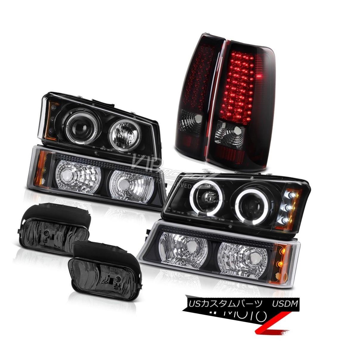 ヘッドライト Black Halo LED Headlights Signal Tail Light Foglight 2005 2006 Silverado 4.3L V6 Black Halo LEDヘッドライト信号テールライトFoglight 2005 2006 Silverado 4.3L V6