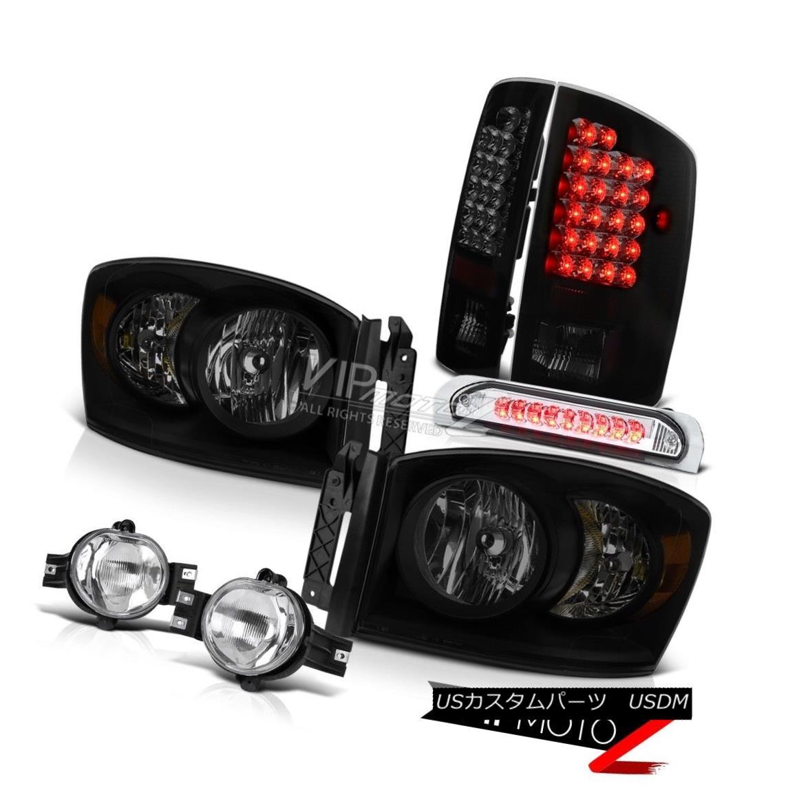 ヘッドライト 07-09 Dodge Ram 2500 3500 5.9L Headlights Fog Lamps Third Brake Lamp Tail Lights 07-09 Dodge Ram 2500 3500 5.9Lヘッドライトフォグランプ第3ブレーキランプテールライト