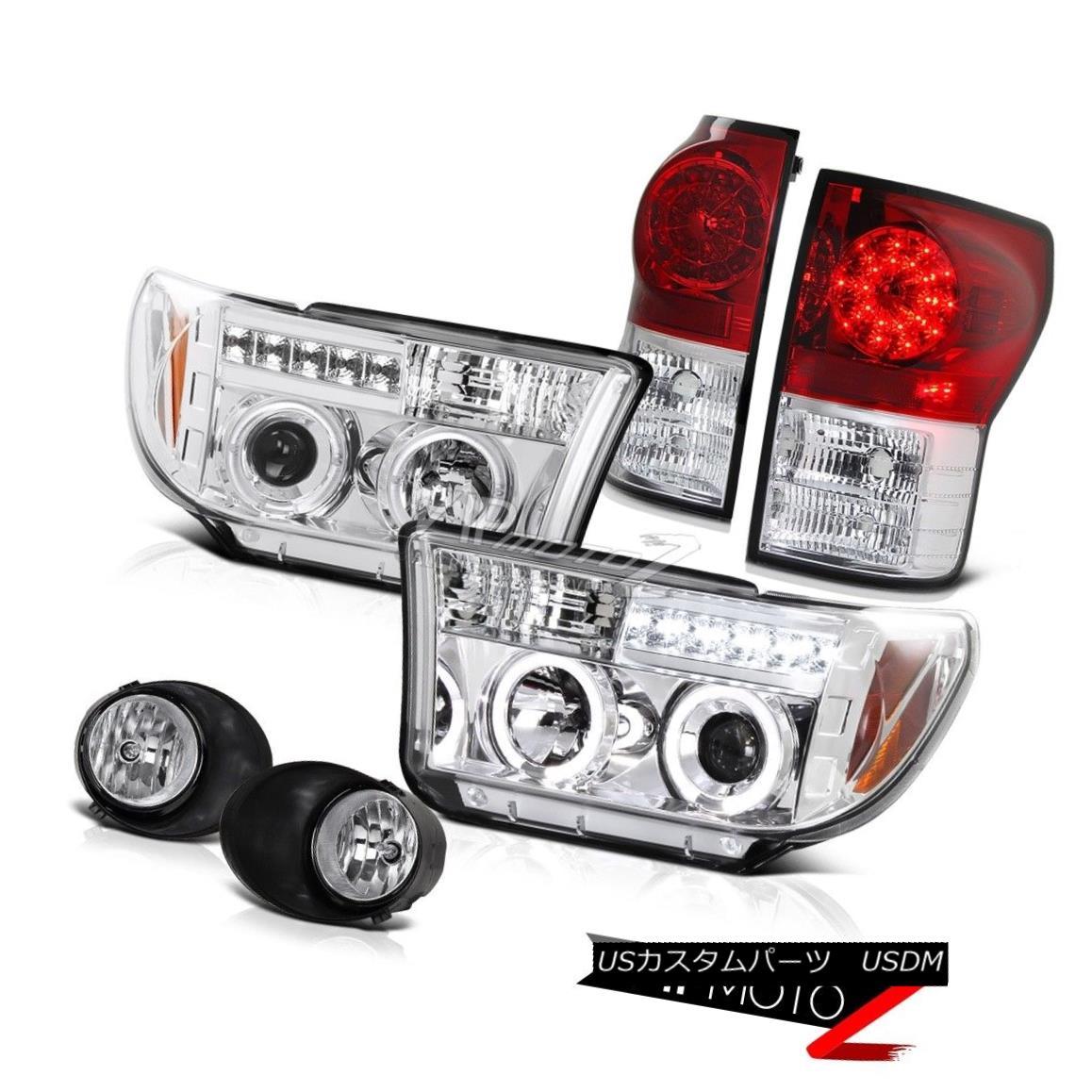 ヘッドライト 07-2013 Toyota Tundra Chrome Projector Halo Headlamp+Led Tail Light+Fog Lamp 07-2013 Toyota Tundra ChromeプロジェクターHaloヘッドランプ+ Ledテールライト+ Fogランプ
