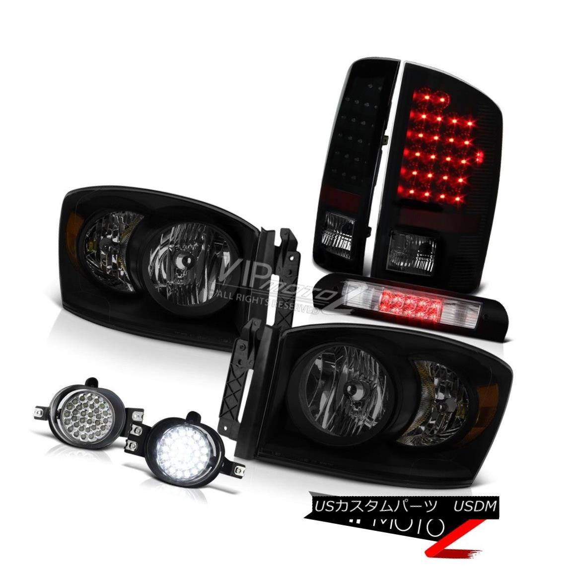 ヘッドライト 07-08 Dodge Ram 1500 3.7L Headlights Foglights Roof Brake Lamp Tail Lights Drl 07-08ダッジラム1500 3.7Lヘッドライトフォグライト屋根ブレーキランプテールライトDrl