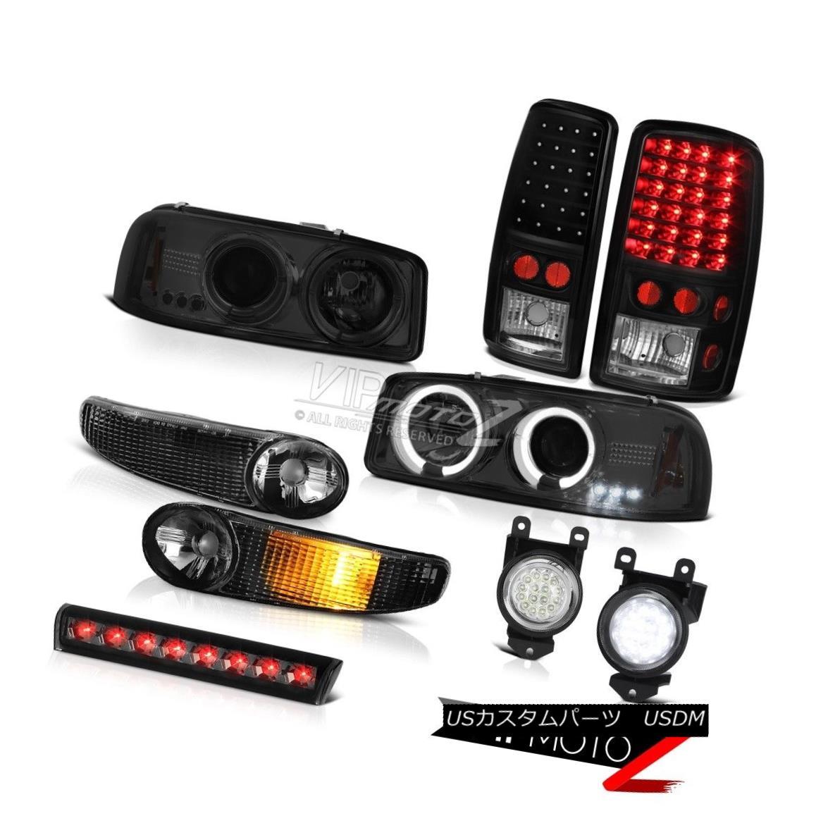 ヘッドライト 01-06 Yukon Denali Headlight LED Halo Signal Brake Tail Lights Driving FogLight 01-06ユーコンデナリヘッドライトLEDハロー信号ブレーキテールライトフォグライト