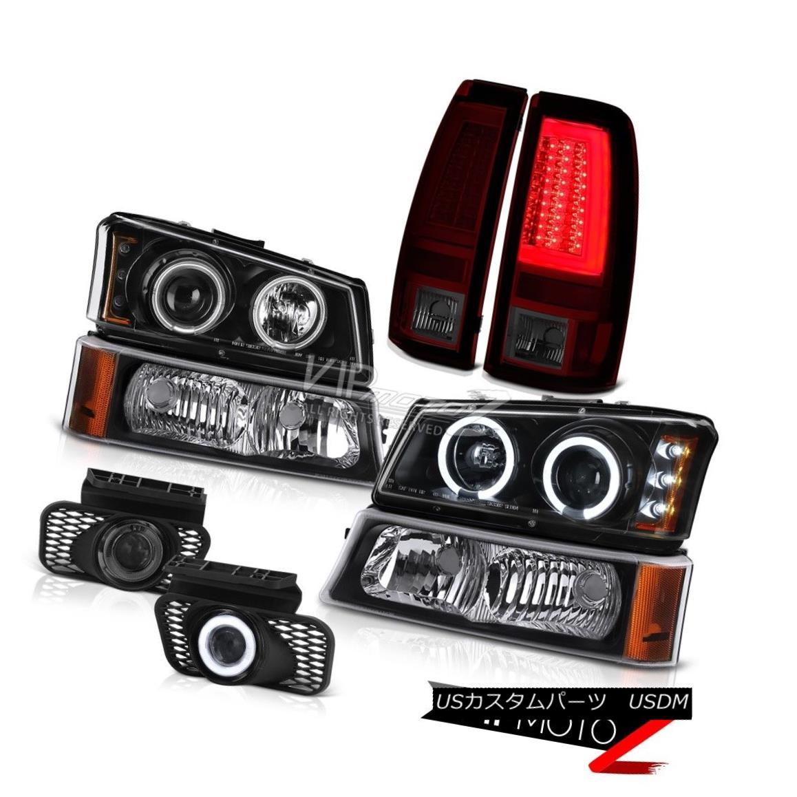 ヘッドライト 2003-2006 Silverado 3500Hd Tail Lamps Signal Light Fog Headlamps CCFL Angel Eyes 2003-2006 Silverado 3500Hdテールランプ信号光霧ヘッドランプCCFL Angel Eyes