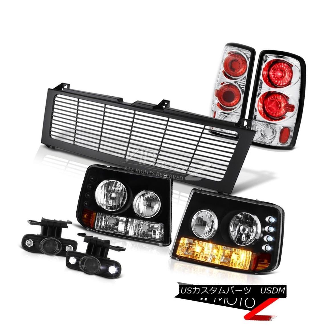 ヘッドライト 00 01 02 03 Suburban 5.7L Parking Headlamp Brakelight Projector Fog Black Grille 00 01 02 03郊外5.7LパーキングヘッドランプBrakelightプロジェクターフォグブラックグリル