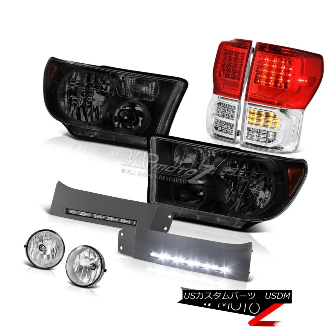 ヘッドライト 07-13 Toyota Tundra SR5 Red Tail Lights Headlamps Daytime Running Fog OE Style 07-13トヨタトンドラSR5レッドテールライトヘッドランプデイタイムランニングフォグOEスタイル