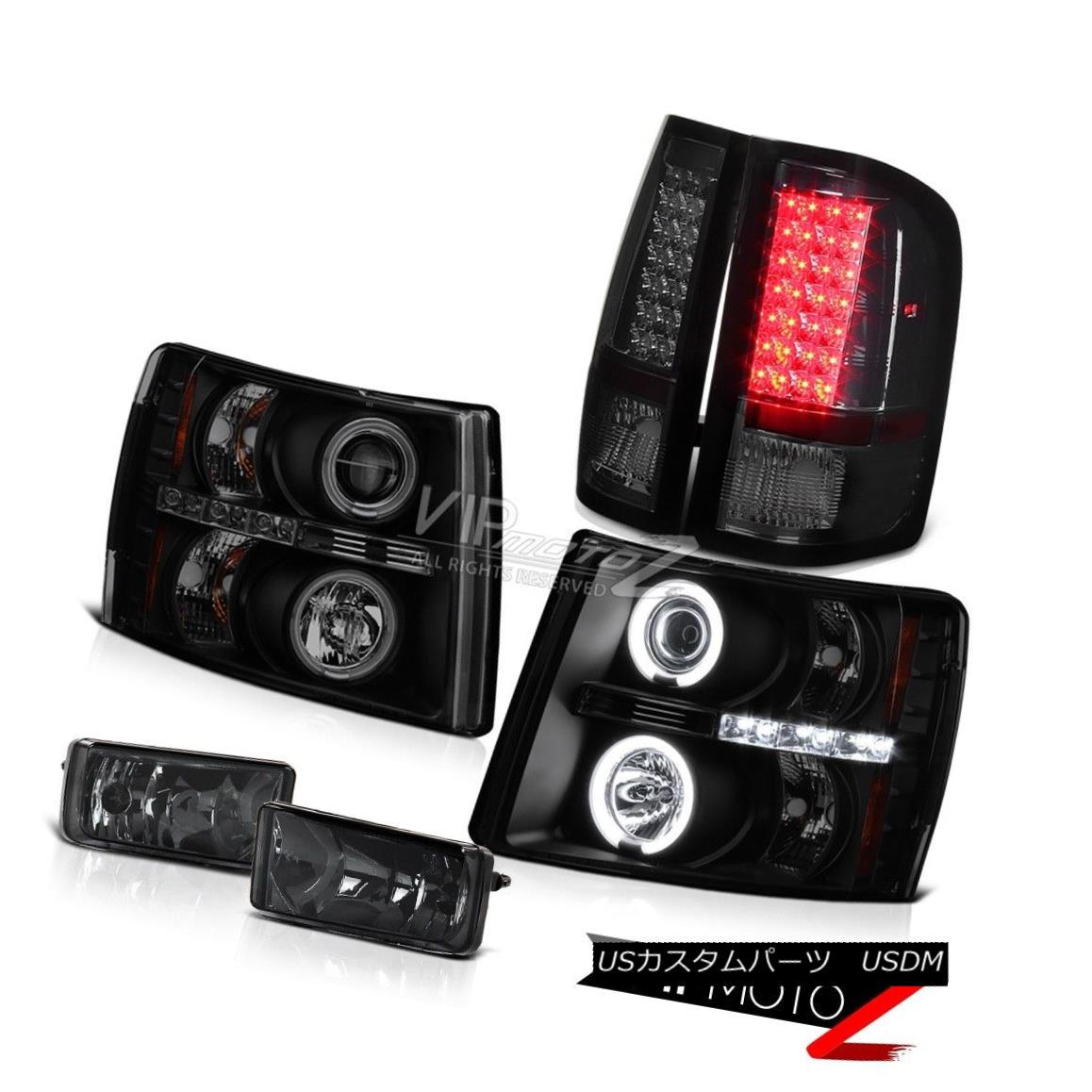ヘッドライト [Best Selling] Sinister Black CCFL Headlights LED Tail Light Fog 07-13 Silverado [ベストセラー] Sinister Black CCFLヘッドライトLEDテールライトフォグ07-13 Silverado