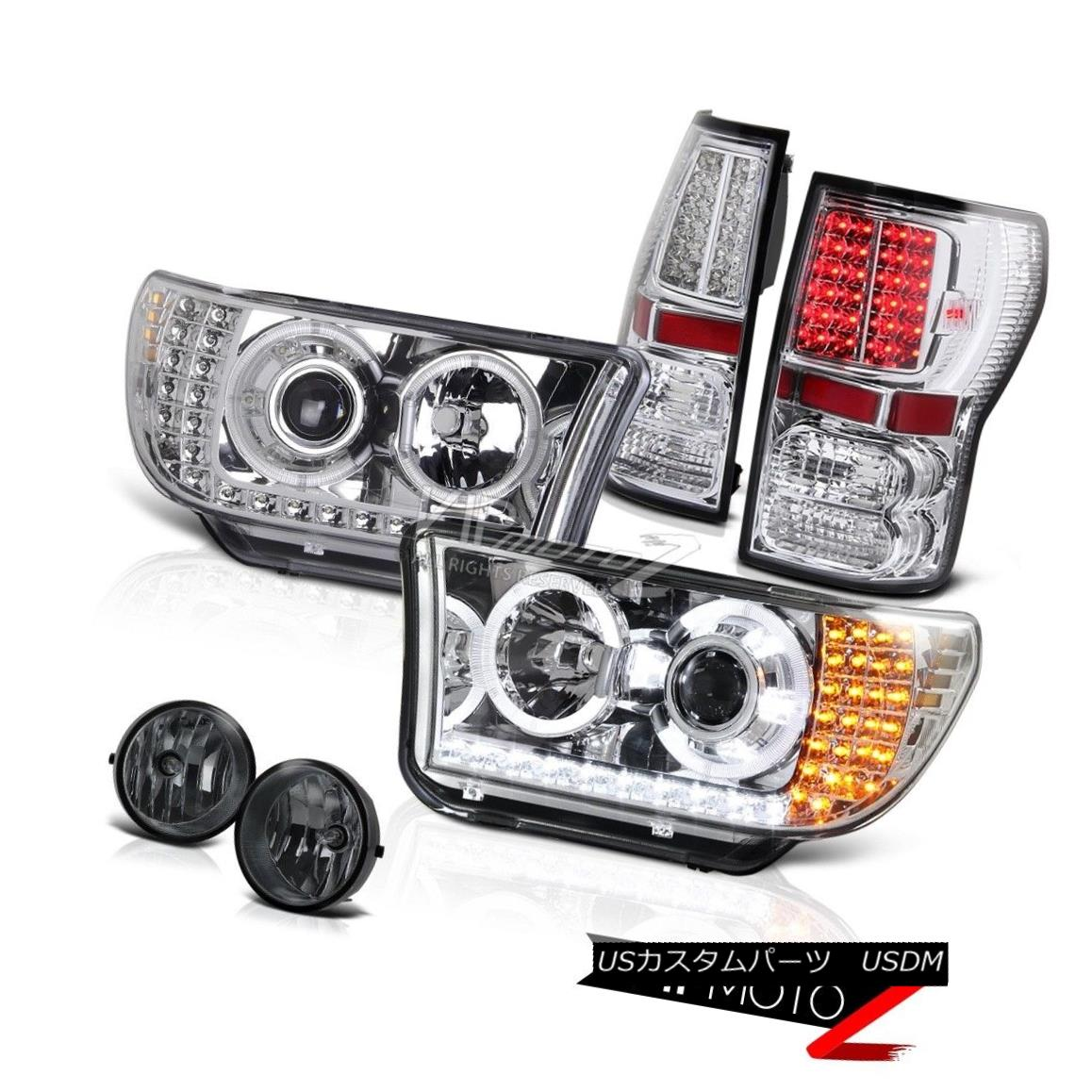 ヘッドライト 07-2013 TUNDRA TRD PICKUP Chrome Projector Led Headlight+Led Tail Light+Fog Lamp 07-2013 TUNDRA TRD PICKUPクロームプロジェクターLedヘッドライト+ Ledテールライト+フォグランプ
