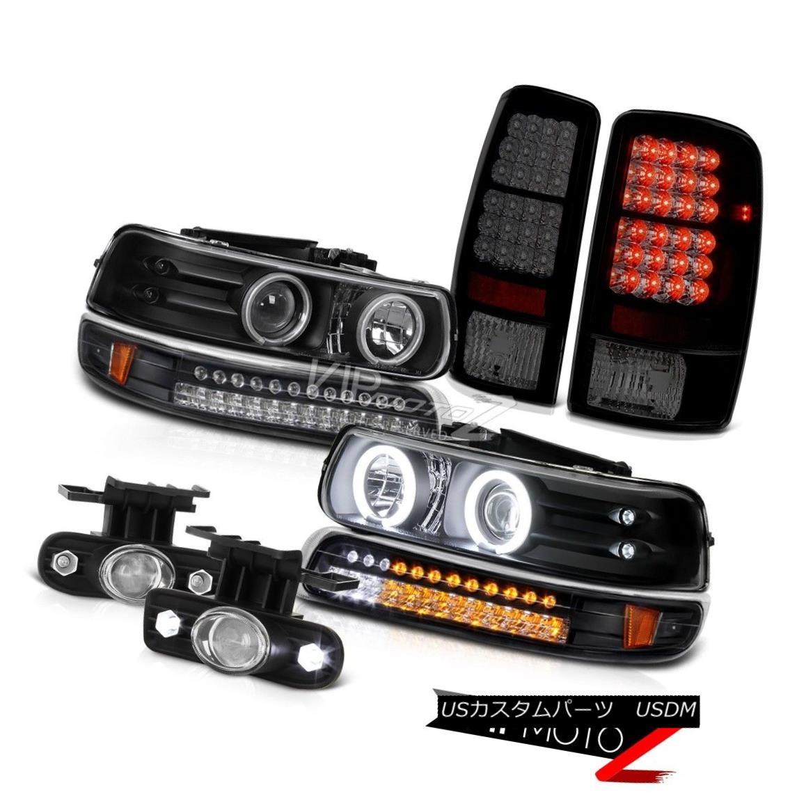 ヘッドライト 00-06 Tahoe 5.3L CCFL Halo Black Headlamps Sinister LED Tail Light Projector Fog 00-06 Tahoe 5.3L CCFL Halo BlackヘッドランプSinister LEDテールライトプロジェクターフォグ