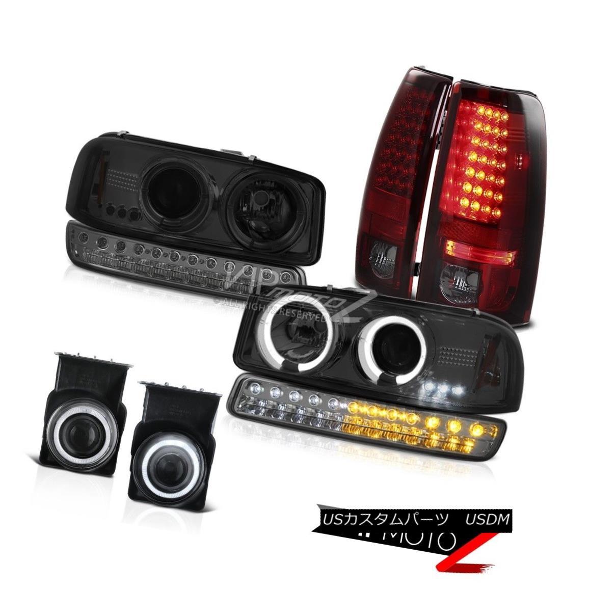 ヘッドライト 03 04 05 06 Sierra 2500 Euro Chrome Fog Lights SMD Tail Turn Signal Headlights 03 04 05 06シエラ2500ユーロクロームフォグライトSMDテールターンシグナルヘッドライト
