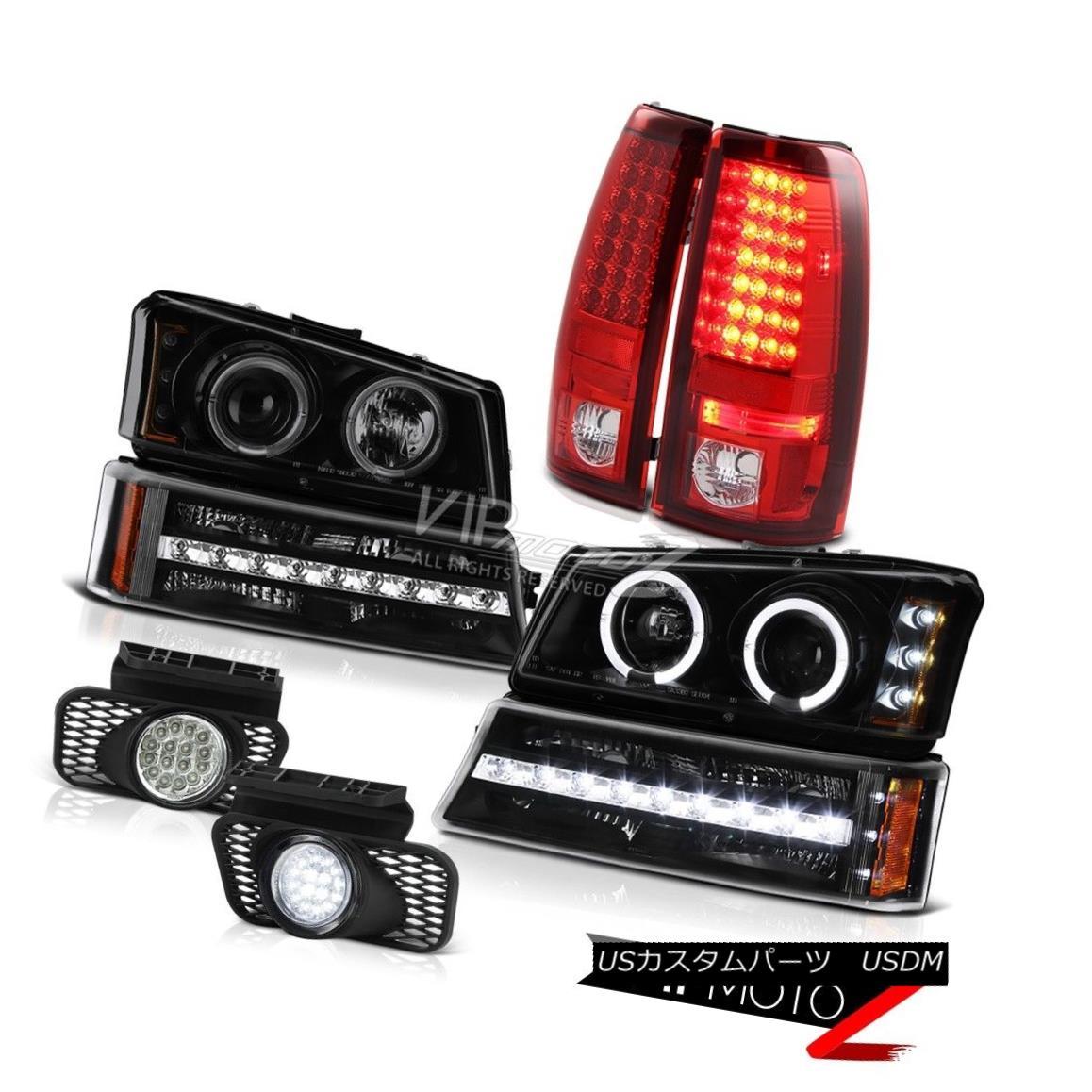 ヘッドライト 03-06 Silverado Chrome foglamps tail lamps matte black parking light headlights 03-06 Silveradoクロームフォグランプテールランプマットブラックパーキングライトヘッドライト