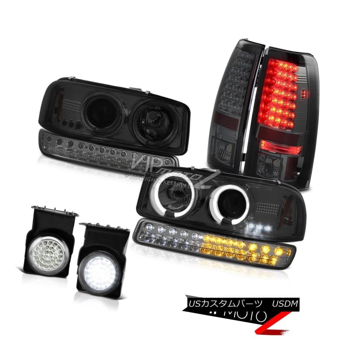 ヘッドライト 03 04 05 06 Sierra 1500 Fog Lamps Smoked LED Tail Brake Turn Signal Headlamps 03 04 05 06 Sierra 1500フォグランプスモークLEDテールブレーキターンシグナルヘッドランプ