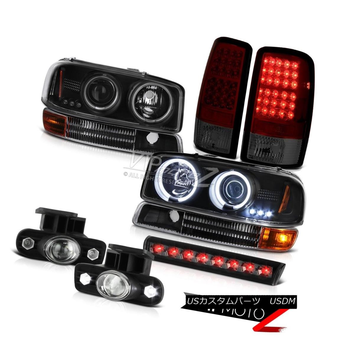 ヘッドライト Halo Ring Headlights LED Tail Lights Projector FogLight Brake 2000-2006 Yukon XL HaloリングヘッドライトLEDテールライトプロジェクターフォグライトブレーキ2000-2006ユーコンXL