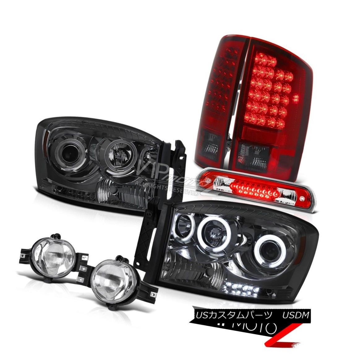 ヘッドライト 2006 Ram CCFL Angel Eye Headlamp SMD Rear Tail Lamps Foglights 3rd Brake Red LED 2006 Ram CCFLエンジェルアイヘッドランプとリアテールランプフォグライト第3ブレーキ赤色LED