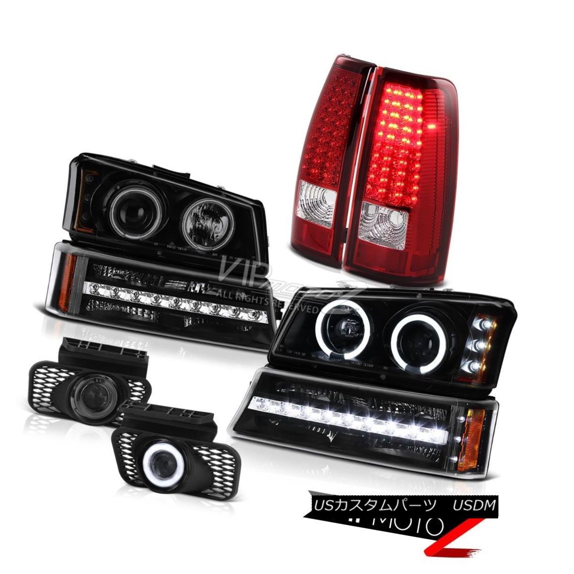ヘッドライト 03 04 05 06 Silverado Titanium smoke fog lamps red tail parking light Headlamps 03 04 05 06 Silveradoチタン煙霧灯赤い尾のパーキングライトヘッドランプ