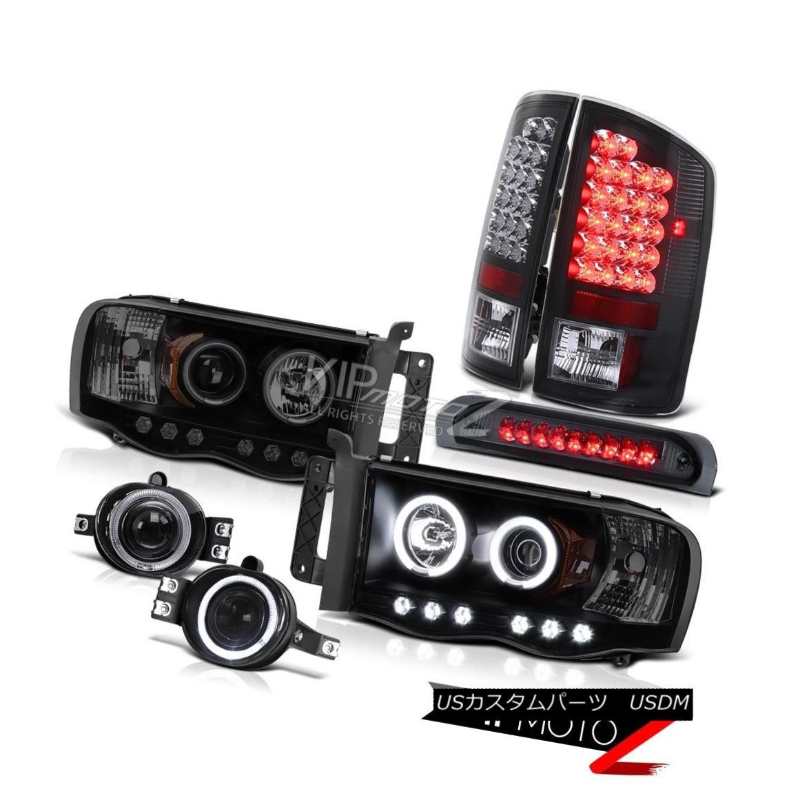 ヘッドライト 2002-2005 Ram 3500 Projector Halo Headlights LED Tail Lights Foglight Stop Light 2002-2005 Ram 3500プロジェクターHaloヘッドライトLEDテールライトFoglight Stop Light