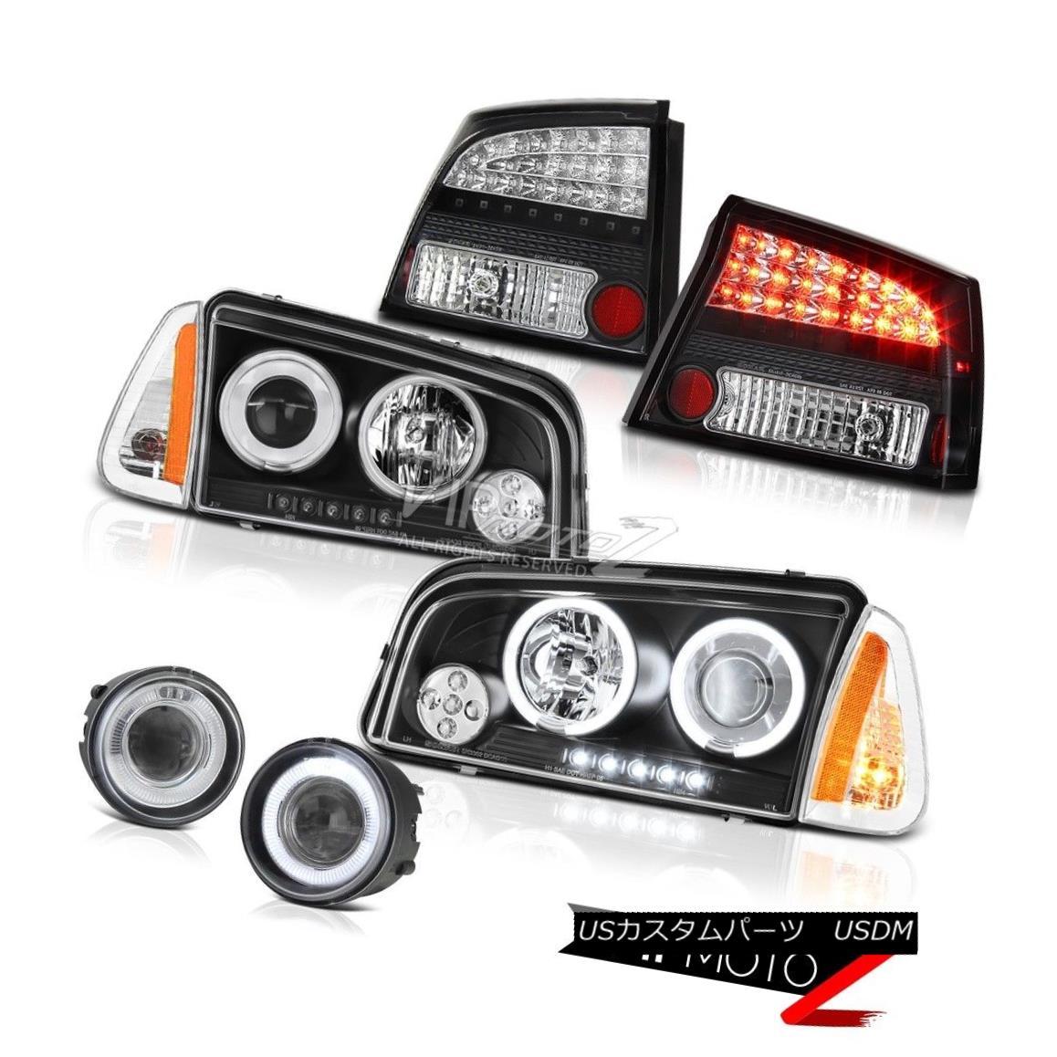 ヘッドライト 2009-2010 Dodge Charger SRT8 Euro chrome fog lights tail parking lamp Headlamps 2009-2010ダッジチャージャーSRT8ユーロクロームフォグライトテールパーキングランプヘッドランプ