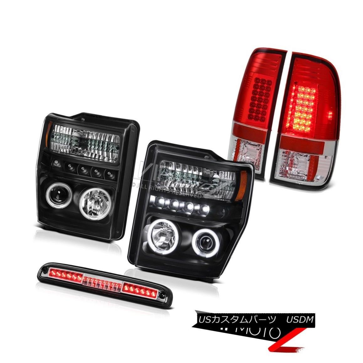ヘッドライト Black CCFL Ring Headlights Chrome 3rd Brake LED Taillamps 2008 2009 2010 F250 XL ブラックCCFLリングヘッドライトChrome 3rd Brake LED Taillamps 2008 2009 2010 F250 XL