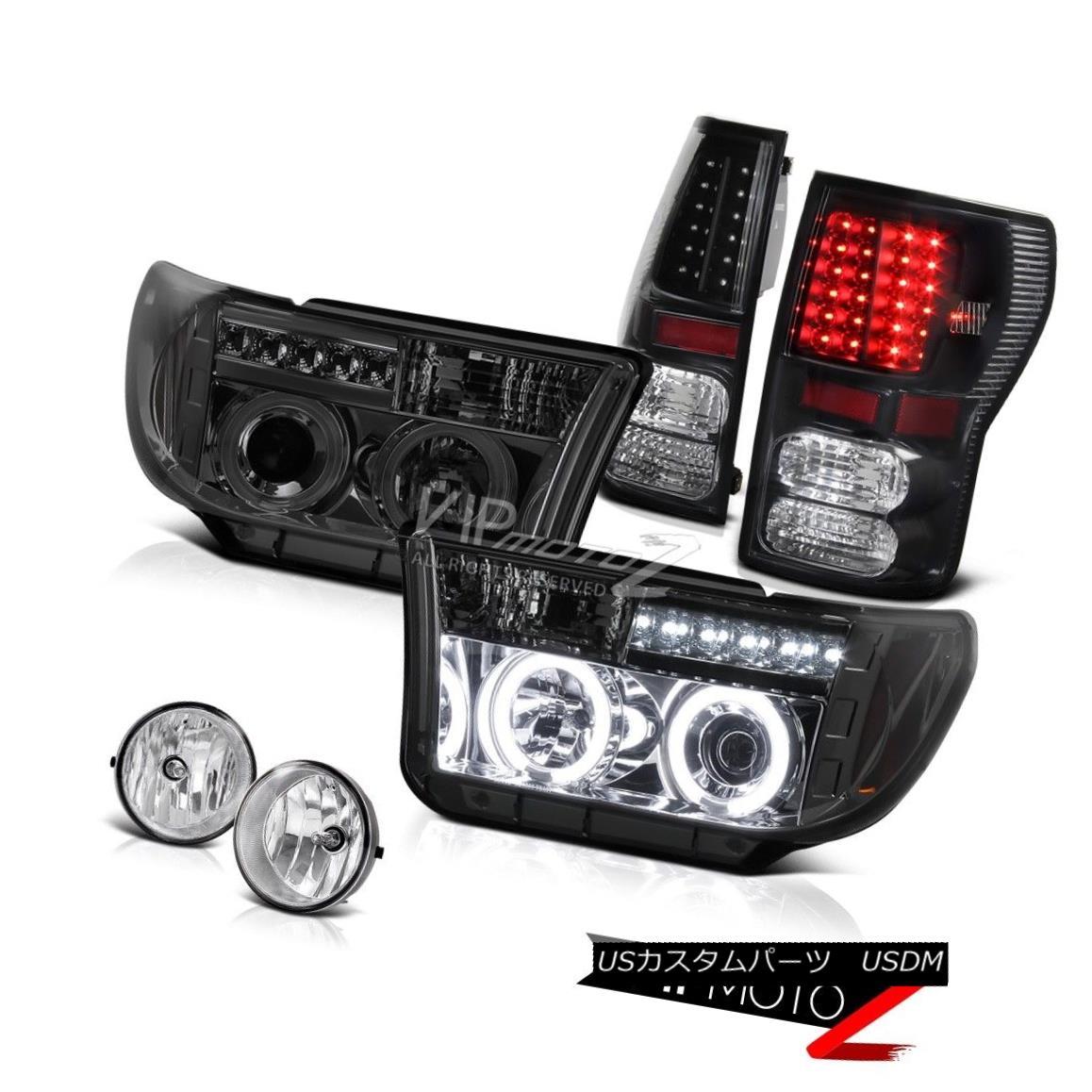 ヘッドライト 07-13 Ttoyota undra CCFL Halo Projector Headlight+Led Tail Light+Fog Lamp 07-13トヨタツンドラCCFLハロープロジェクターヘッドライト+ Ledテールライト+フォグランプ