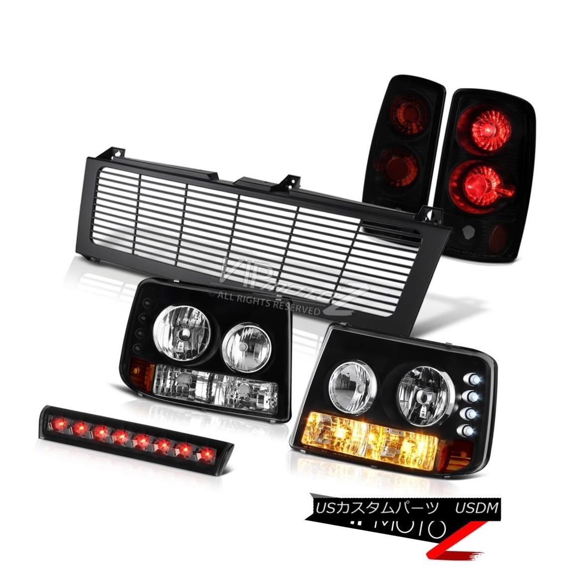 ヘッドライト 00-06 Chevy Suburban Bumper+Headlight Taillight 3rd Brake Cargo LED Black Grille 00-06シボレー郊外バンパー+ヘッドリッグ htテイルライト第3ブレーキカーゴLEDブラックグリル