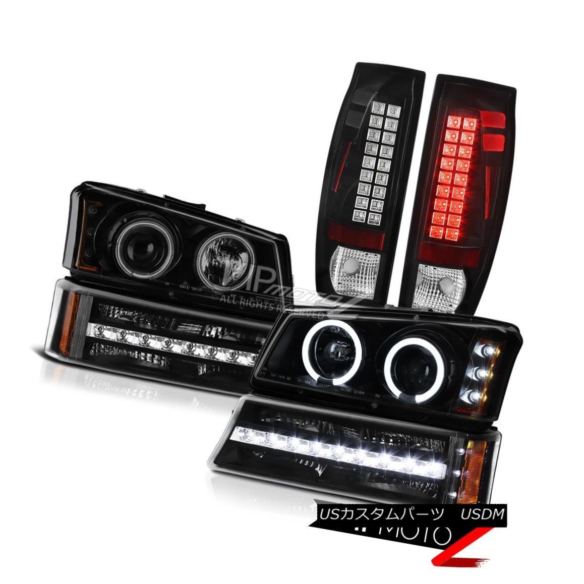ヘッドライト 03-06 Avalanche Inky Black Taillamps Signal Light Sinister Projector Headlights 03-06雪崩Inky Black Taillampsシグナルライトサニスタープロジェクターヘッドライト