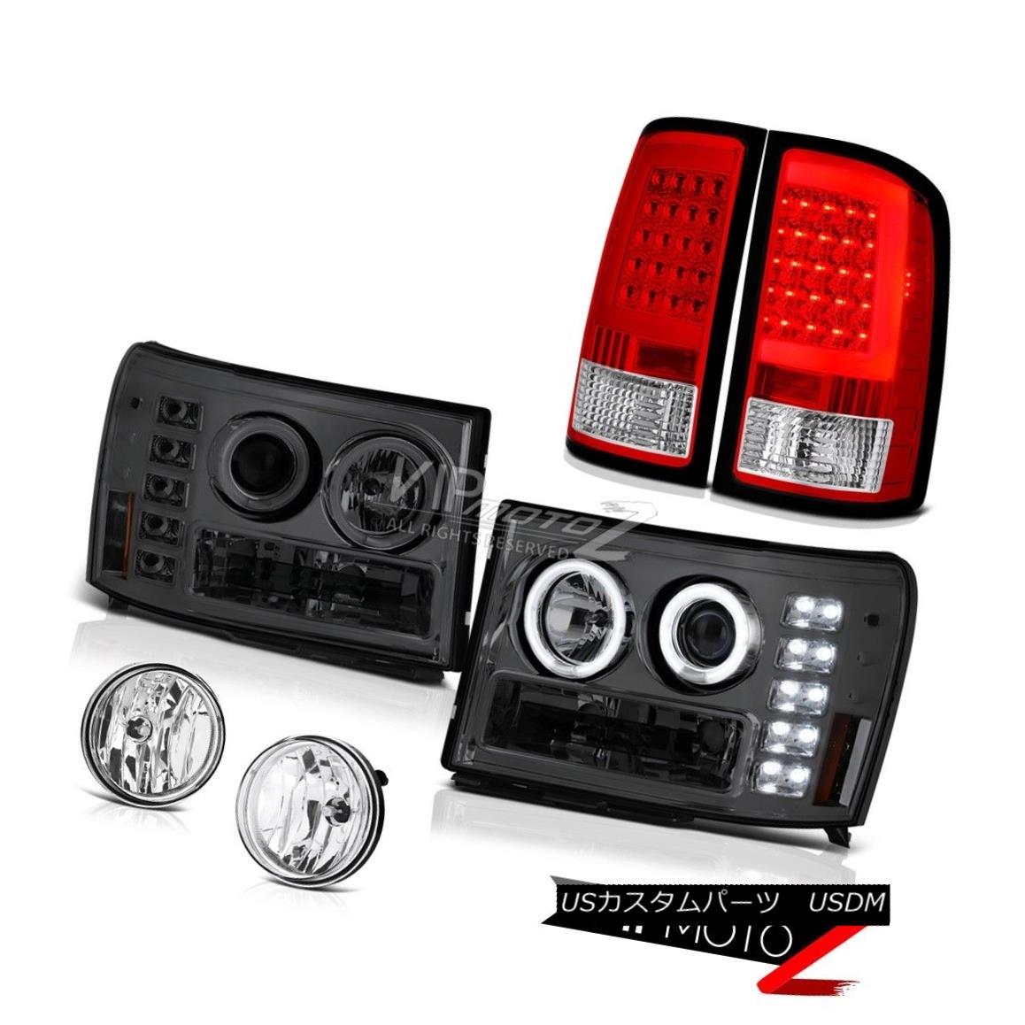 ヘッドライト 07-13 Gmc Sierra 1500 XFE Red Tail Brake Lights Chrome Fog Headlights Tron Tube 07-13 Gmc Sierra 1500 XFEレッドテールブレーキライトクロームフォグヘッドライトトロンチューブ