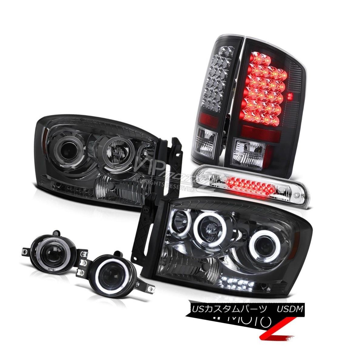 ヘッドライト 07-08 Ram 2500 Daytime Running CCFL Headlight SMD Brake Tail Light Fog Third LED 07-08 Ram 2500日中走行CCFLヘッドライトSMDブレーキテールライトフォグ第3 LED