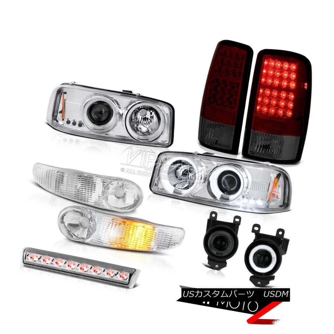 ヘッドライト Halo CCFL Headlamps Signal LED Bulbs Tail Light Fog Brake Cargo 01-06 Yukon 6.0L Halo CCFLヘッドランプ信号LED電球テールライトフォグブレーキカーゴ01-06ユーコン6.0L