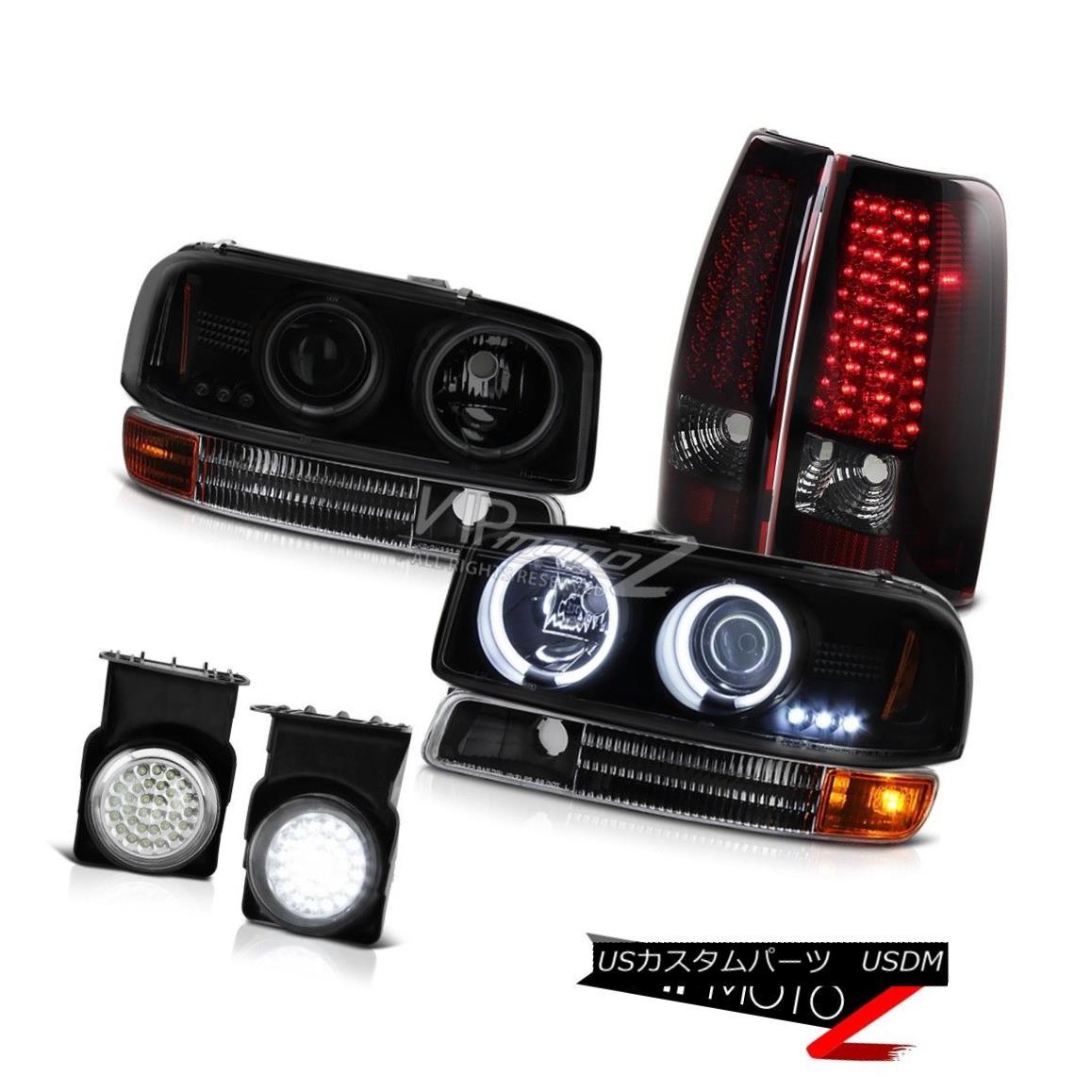 ヘッドライト 2003 Sierra 2500HD CCFL Angel Eye Headlamp Signal SMD Tail Lights Wiring LED Fog 2003 Sierra 2500HD CCFLエンジェルアイヘッドランプ信号SMDテールライト配線LEDフォグ