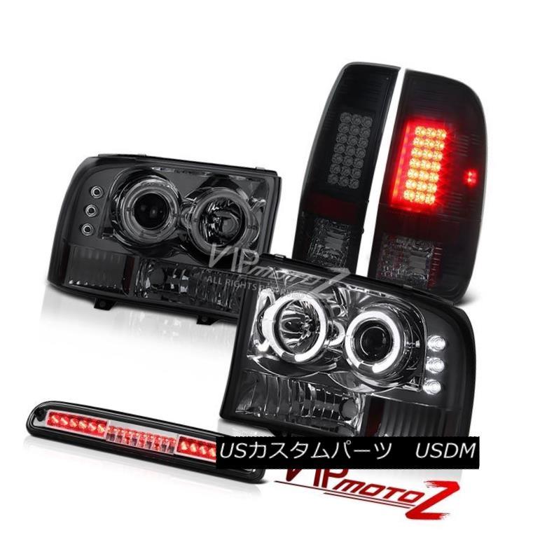 ヘッドライト Smoke Projector Headlights LED Bulbs Euro Third Brake 99 00 01 02 03 04 F350 XL 煙プロジェクターヘッドライトLED電球ユーロサードブレーキ99 00 01 02 03 04 F350 XL