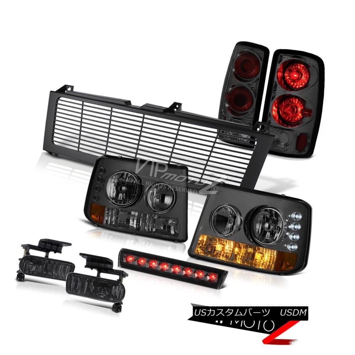 ヘッドライト Tinted Parking Headlamps Lights Smoke FogHigh Brake LED Black 00-06 Tahoe 5.3L 着色駐車場ヘッドライトライト煙FogHighブレーキLEDブラック00-06タホー5.3L