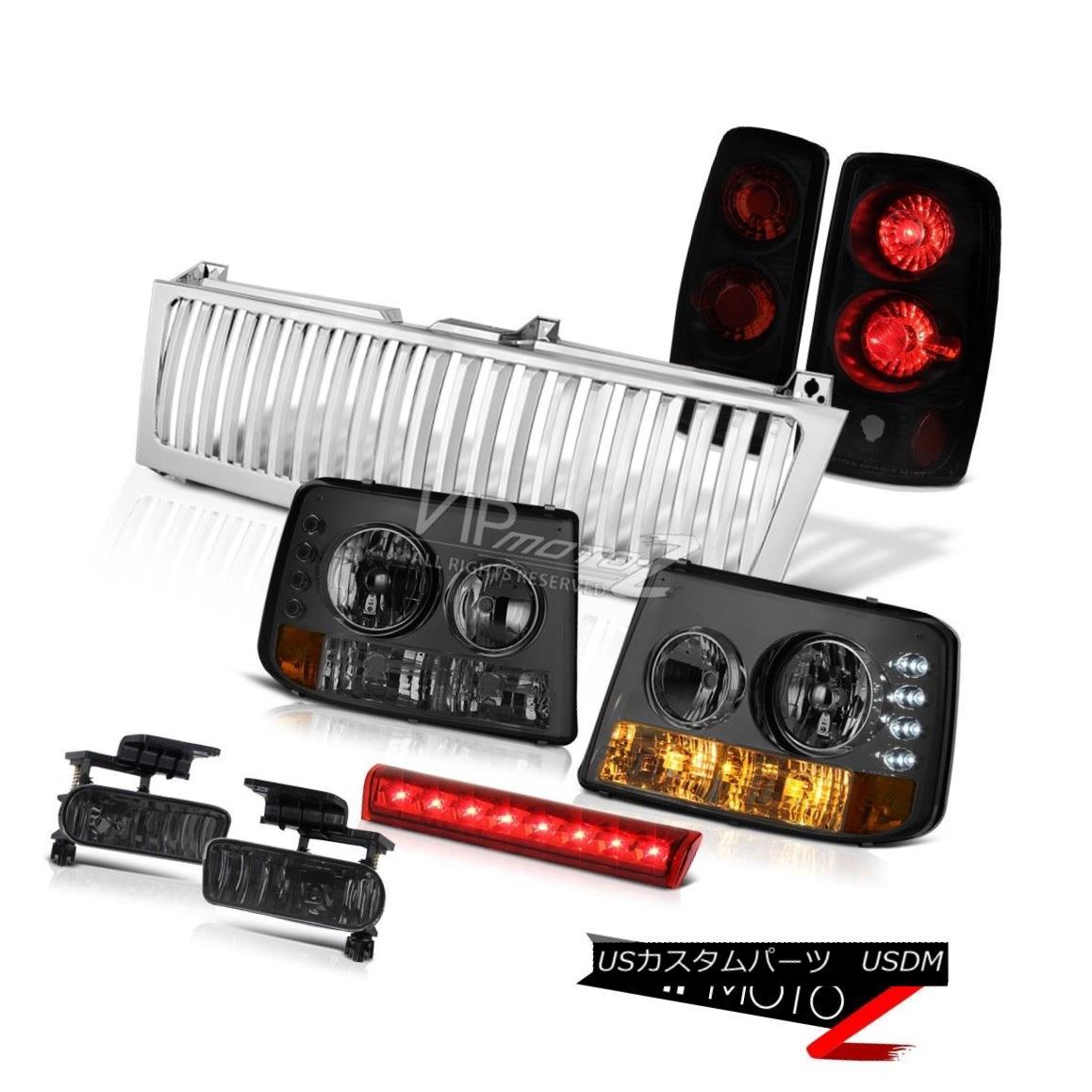 ヘッドライト Smoke Headlamps Sinister Black Lights Fog Red LED Crystal 00-06 Suburban 5.3L スモークヘッドランプ懐疑的なブラックライトフォグレッドLEDクリスタル00-06郊外5.3L