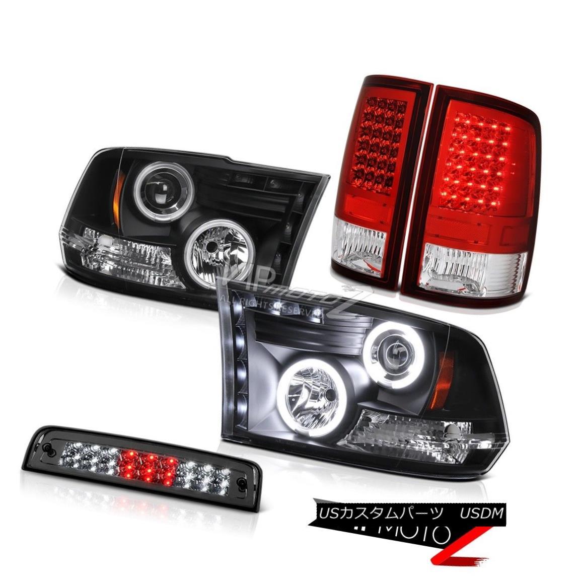 ヘッドライト 2010-2015 Dodge Ram 2500 Laramie 3RD Brake Light Red Rear Lamps Black Headlights 2010-2015 Dodge Ram 2500 Laramie 3RDブレーキライトレッド・リア・ランプブラック・ヘッドライト