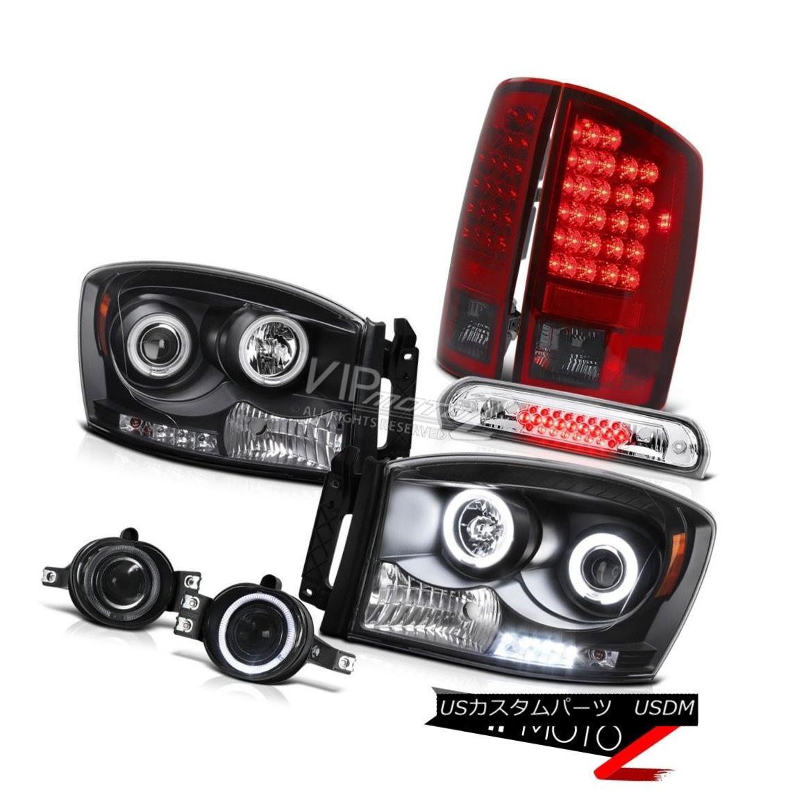 ヘッドライト Halo Headlights Rear Tail Light LED Projector Fog High Stop Chrome 2006 Ram 2500 HaloヘッドライトリアテールライトLEDプロジェクターフォグハイストップクロム2006 Ram 2500
