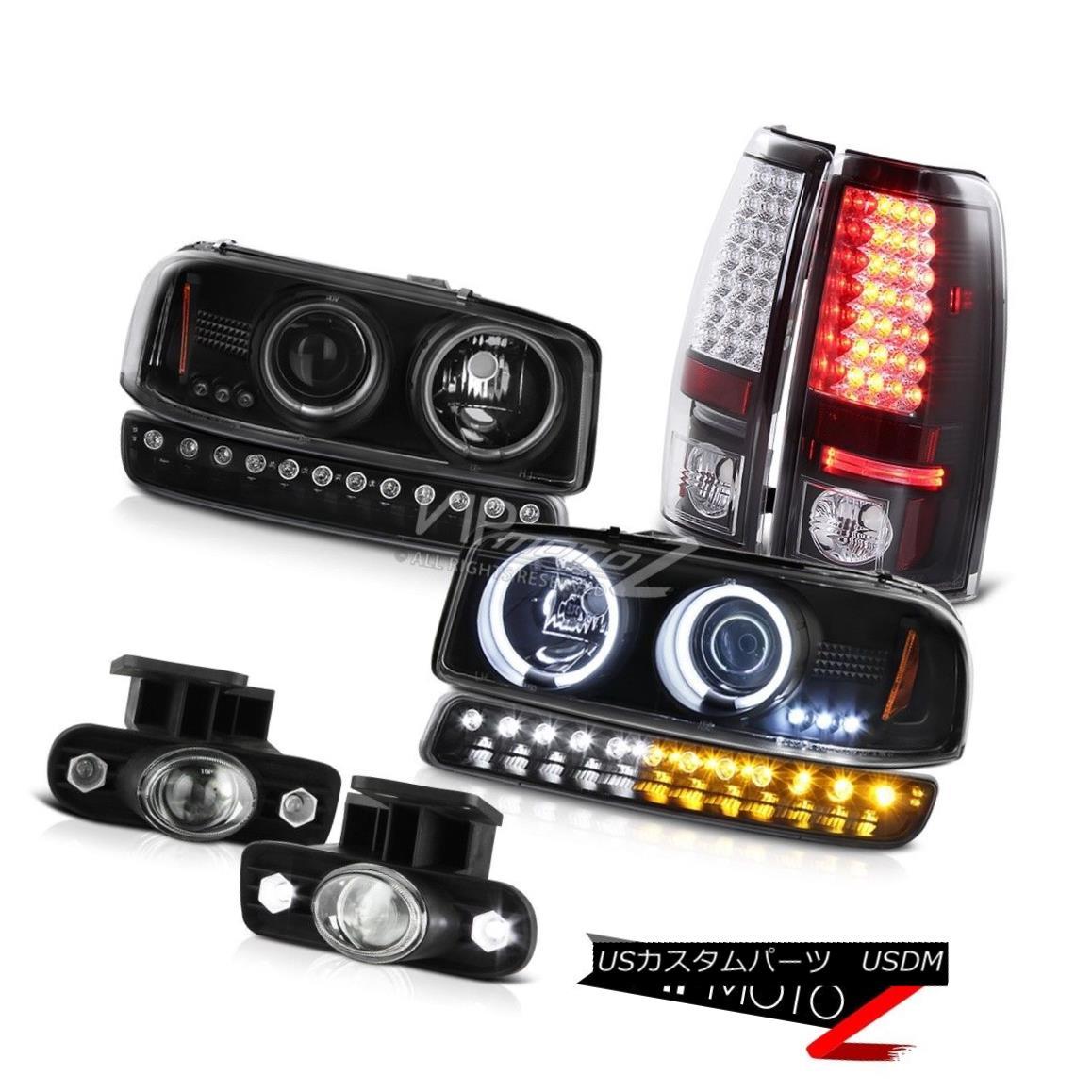 ヘッドライト 99-02 Sierra 5.3L Foglights smd tail lamps parking lamp ccfl projector headlamps 99-02シエラ5.3L Foglights smdテールランプパーキングランプccflプロジェクターヘッドランプ